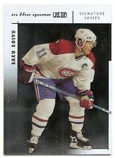 03/04 ITG USED SIGNATURE SERIES BASE Hockey (#1-60) U-Pick from List