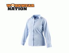 Dickies Ladies Long Sleeve Oxford Work Shirt,Printing Embroidery Logo Blue