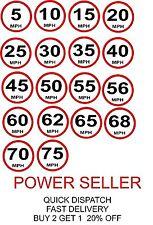 Límite de velocidad lenta construcción de Tráfico Seguridad Señal Pegatina 5 10 15 20 25 30 50 70