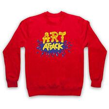 ART ATTACK LOGO UNOFFICIAL CREATIVE KIDS TV RETRO SHOW ADULTS & KIDS SWEATSHIRT