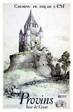 Affiche chemin de fer Est - Provins Tour de César