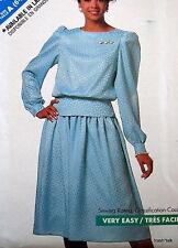 SEE & Sew womens skirt blouse pattern 2 pc dress sz 6 8 10 12 14  dirndle skirt