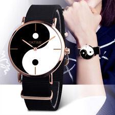 Fashion Women Casual Canvas Band Eight Diagram Analog Quartz Wrist Watch Watches