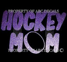 VRS PARENT HOCKEY MOM PUCK METAL LETTERING CAR STICKER DECAL