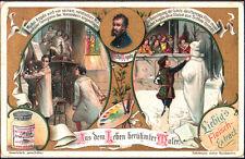ANTICA FIGURINA LIEBIG - PITTORI CELEBRI - MICHELANGELO - 1904 EDIZIONE TEDESCA