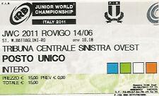Nueva Zelanda V Gales Italia V Argentina 2011 Junior Campeonato Mundial De Rugby Billete