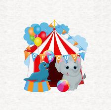 Circus Fun, sigilla e ELEFANTE CUSCINO// Pannello Tappezzeria Stampato Craft