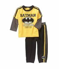 NWT DC Comics Batman Baby Boys L/S 2-Fer Tee & Pants Set Sz 0/3M 3/6M SO CUTE!!