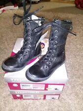 Gattino Stiefel Größe  25, 26, 27  Echtleder schwarz Schnürstiefel Boots