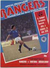 CWC - EC II 79/80 Glasgow Rangers - Fortuna Düsseldorf