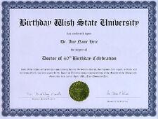 Doctor 40th Birthday Celebration Diploma Gag Gift