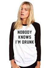 Nobody sabe que estoy borracho-bebiendo cerveza vino resaca Regalo para Mujer de Béisbol Top