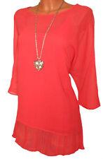 B.C. Damen 2 tlg. Blusenset Bluse + Top korallrot Oversize Gr. 44 46 NEU - B40