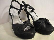 JLO Textile Fleur Black Platform Spike Strap Heel Shoes SR$70 NEW