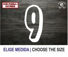 Numero 9 (NC) Number Vinilo Sticker Vinyl Decal Autocollant Adesivi Dorsal