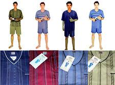 Herren Baumwolle Schlafanzug Pijama mit Kuzärme und Beine in 4 Farben Bnnc1
