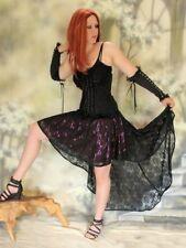 GOTHIC Burlesque Falda Aimée con cola encaje negro rojo púrpura 36 38 40 42