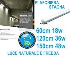 PLAFONIERA STAGNA completa DI LED NO TUBO T8 60-120-150 CM 220V SOFFITTO IP65