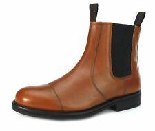 Frank James Benchgrade cuero hecho a mano welted Chelsea Dealer botas de suela de goma