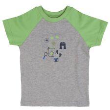 People Wear Organic garçons Raglan T-Shirt manches courtes gris vert