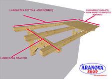 Pensilina tettoia in legno  lamellare per porte e finestre in kit varie misure
