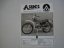 advertising Pubblicità 1975 MOTO ASPES NAVAHO 50 P6 CS