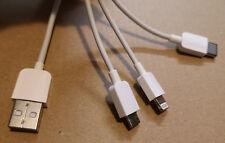 3 En 1 Cargador Cable De Carga Para Lg mobile phone + Tablet Y Iphone Ipad
