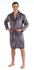 Harvey James Mens Satin Lightweight Summer Wrap Dressing Gown Bath Robe