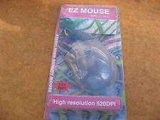 EZ-2001 PS2 520DPI Mouse Bola Transparente para dos, WIN3.1, 95,98,NT sin usar.
