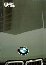 BMW 5-Series E28 1983-84 UK Market Sales Brochure 528i 525i 520i 518