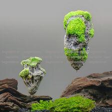 Floating Rock Stones Ornament Aquarium  Fish Tank Avatar Moss Plant Landscape