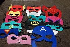 Kids Superhero Mask Costume - Superman Batman Supergirl Spiderman & more