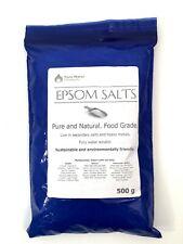 Epsom Salts - 100% Pure and Natural - Food Grade - 500G - 1KG - 2KG