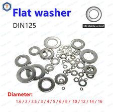 304 Stainless Flat Washer M1.6 M2 M2.5 M3 M3.5 M4 M5 M6 M8 M10 M12 M14 M16 M18..