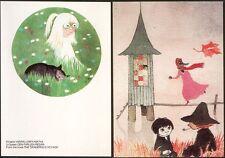 Moomin Muumi Mint postcards The Dangerous Voyage (2) Finland.
