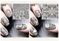 Nagelsticker Fingernägel Aufkleber Tattoo Nail Art Nageldesign Schmuck 8637-8638