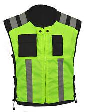 Motorbike Hi Vis Vest Safety Jacket Hi viz Visibility Waistcoat Reflective Bib