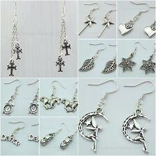 ♥ Dream-Pearls Ohrringe Mickey Maus Schlüssel Herz Eiffelturm silber bronze ♥ 88