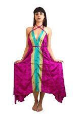 LONG DRESS Maxi dress beach wear silk Boho chic Hippie chic FREE POST to UK