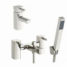 Enki SQUARE bagno Filler Tap con testa doccia + Mini Miscelatore Lavabo Rubinetto Pack DESIDERIO