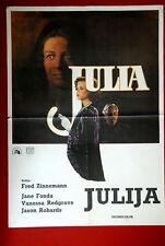 JULIA ZINNEMANN FONDA 1977 RARE EXYU MOVIE POSTER