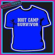 Boot Camp Survivor formación Fitness Gimnasio Camiseta