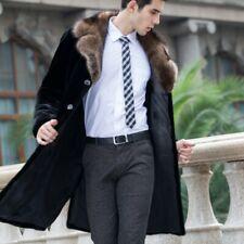 Men's Mink fur Jacket Fox fur Collar Parka Overcoat Winter Thick Occident Warm