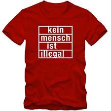 Kinder unisex T-Shirt Kein Mensch ist illegal Shirt Tee S-3XL NEU