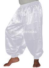 White - TMS Satin Harem Yoga Pant Belly Dance Boho Hippy Pantalons - 30 Color