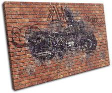 Graffiti Urban Motorcycle Cars SINGLE DOEK WALL ART foto afdrukken