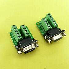 9 broches DB9 sans soudure Terminal Male/Female Serial Adaptateur RS232