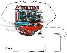 64 65 66 Mustang T Shirt, Ford Mustang Clothes Classic Car Tee Sz M L XL 2XL 3XL