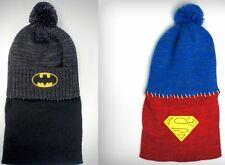NEW Batman or Superman Caped Knit Beanie Cap Hat