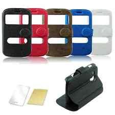 ^ S-view Samsung Galaxy Trend Plus S7580 / Duos S7562 S7560 Tasche Case Folie